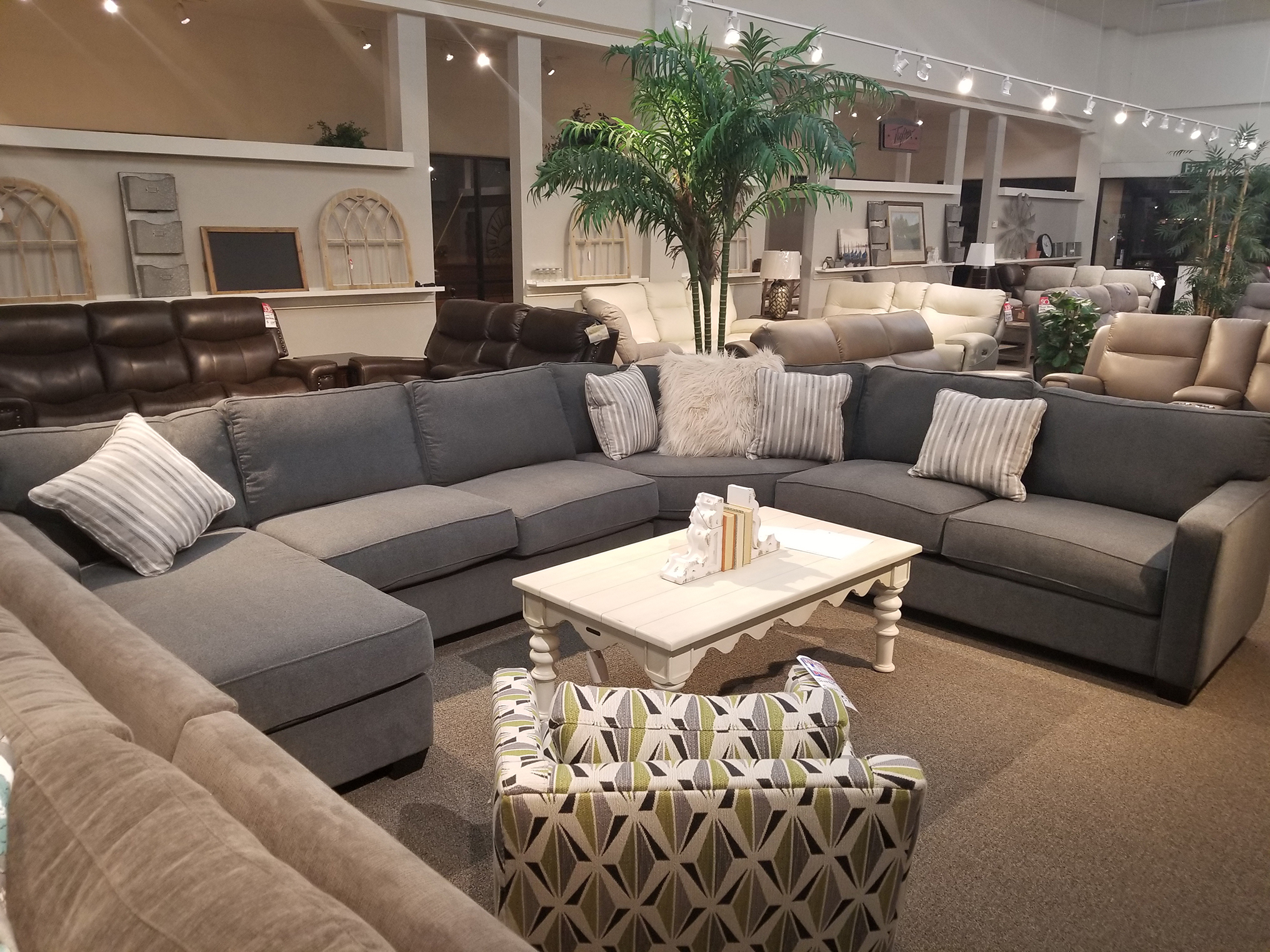 Featured Style On Our Showroom Floor : The Bradford Sectional By Jonathan  Louis.